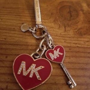 Michael Kors heart and key charm